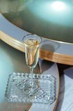Wedding glasses of champagne Stock Images