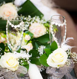 Wedding glasses Stock Images