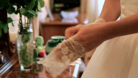 Wedding Gloves stock video footage