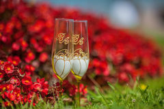 Wedding goblets Stock Photography