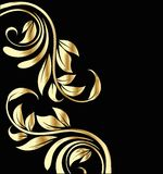 Wedding gold flowers background Stock Photos