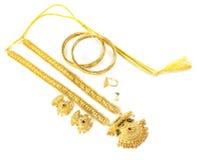 Wedding gold jewelry Stock Photo
