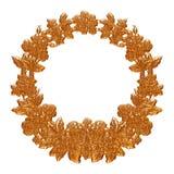Wedding gold necklace over white background Stock Photos