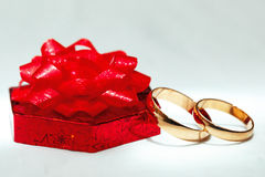 Wedding gold ring, decorations for a  celebration. Stock Images