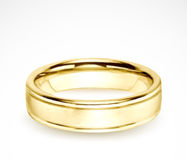 Wedding gold ring isolated on white. Vector Royalty Free Stock Photos