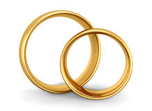 Wedding Gold Rings Royalty Free Stock Image