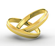 Wedding gold rings Royalty Free Stock Photos