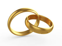 Wedding gold rings Stock Images