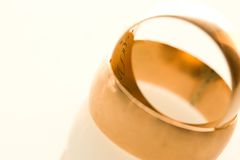 Wedding gold rings. Wedding rings, symbol of marriage and eternal love, macro Royalty Free Stock Photography