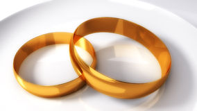 Wedding gold rings Stock Image
