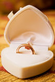 Wedding gold rings in box Royalty Free Stock Images