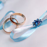 Wedding gold rings bride and groom Stock Photo
