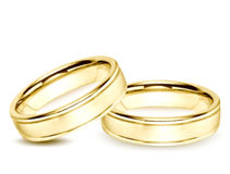 Wedding gold Rings. Vector illustration Royalty Free Stock Photo
