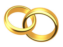 Wedding gold rings Stock Photo