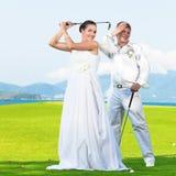 Wedding golf Stock Images