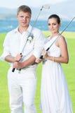 Wedding golf Royalty Free Stock Photo