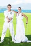 Wedding golf Royalty Free Stock Image