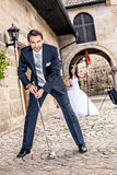 Wedding golf Royalty Free Stock Images