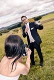 Wedding golf Royalty Free Stock Images