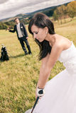 Wedding golf Stock Photography