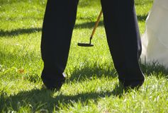 Wedding golf cleek Stock Photography