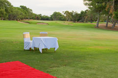 Wedding on a golf course Royalty Free Stock Image