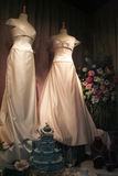 Wedding Gown. S displayed in a window Royalty Free Stock Images