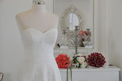 Wedding gown Stock Image