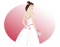 Wedding gown back Stock Images