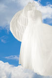 Wedding Gown Blue Sky Stock Image