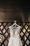 Wedding gown pink royalty free stock photos