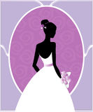 Wedding gown silhouette Stock Photos