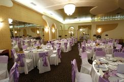 Wedding grand ballroom stock photography