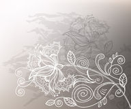Wedding graphic. Refine wedding background with lace decorative white flower Royalty Free Stock Photography