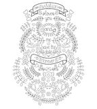 Wedding graphic set with arrows, hearts, laurel, wreaths, flowers, ribbons, bow. You And Me Forever inscription. Stock Image