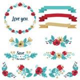 Wedding graphic set Stock Photo