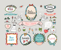 Wedding graphic set Royalty Free Stock Photos