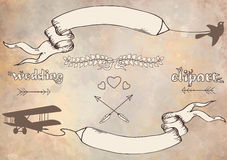 Wedding graphic set Royalty Free Stock Images