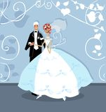 Wedding graphic wedding couple Stock Photography