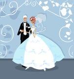 Wedding Graphic Wedding Couple Stock Photography