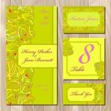 Wedding green card design. Stock Photography