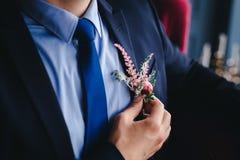 Wedding groom detail Stock Image