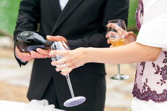 Wedding toast Royalty Free Stock Image