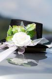 Wedding grooms car decoration Royalty Free Stock Photography