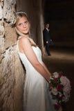 Wedding in a grunge barn Stock Image