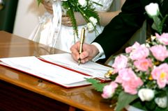 Wedding guarantees Royalty Free Stock Photography