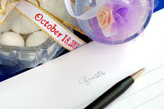 Wedding guest book Royalty Free Stock Photography
