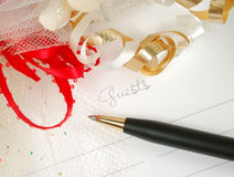 Wedding guest book Stock Image