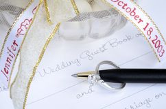 Wedding guest book Royalty Free Stock Image