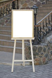 Wedding guest list on wooden easel Stock Images